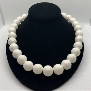 """Vintage """"Golf Ball"""" Faceted Bead Necklace"""
